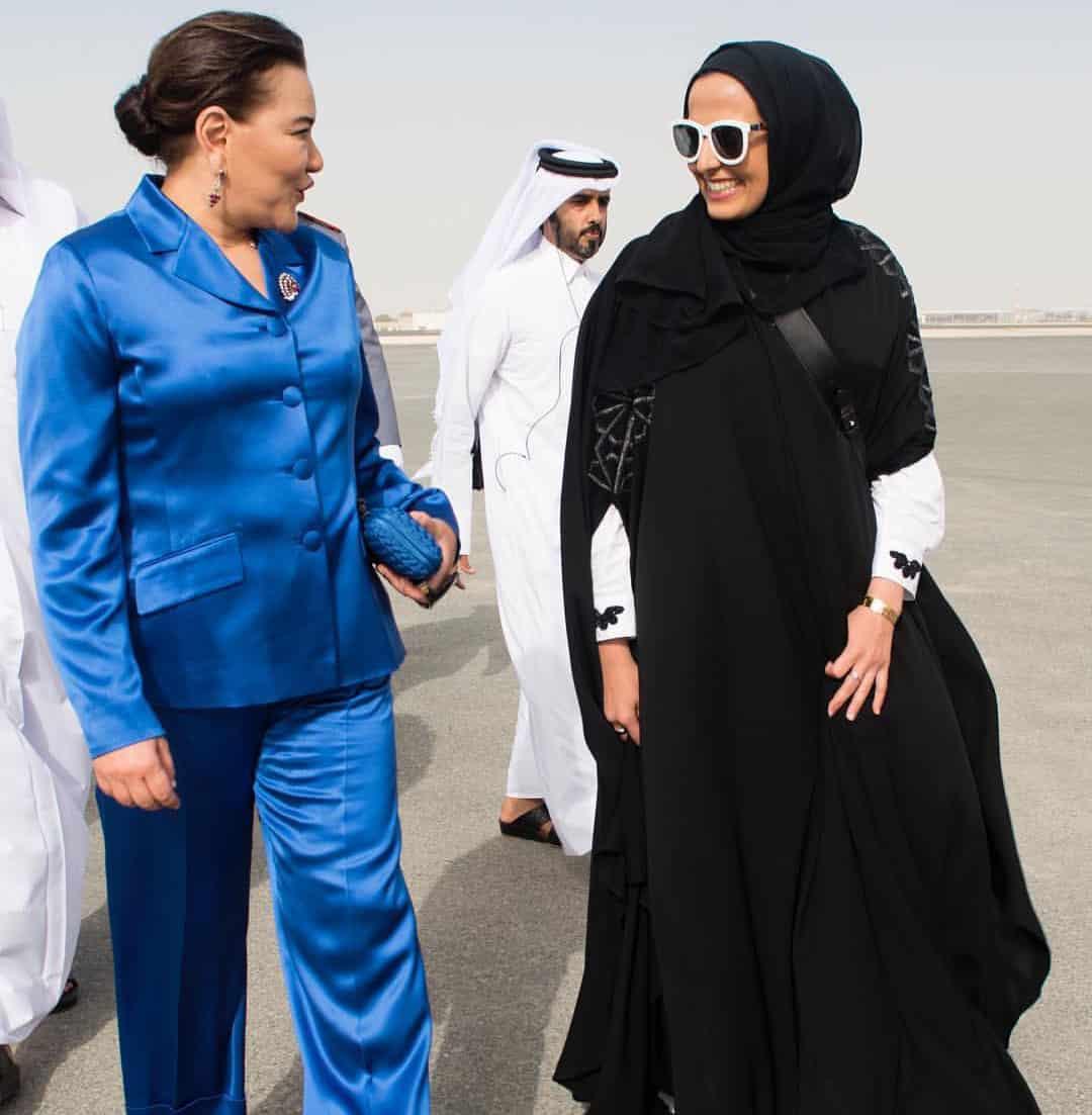 Sheikha Al Mayassa Welcomes Princess Lalla Hasna Of