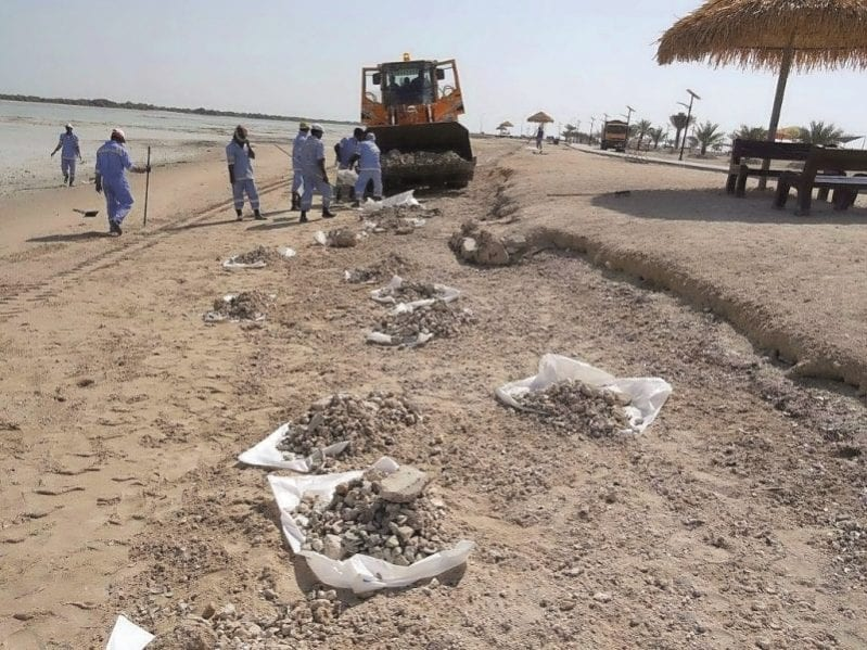Al Dhakhira beach ready after clean-up