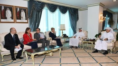 Al Muraikhi reviews regional issues with envoys