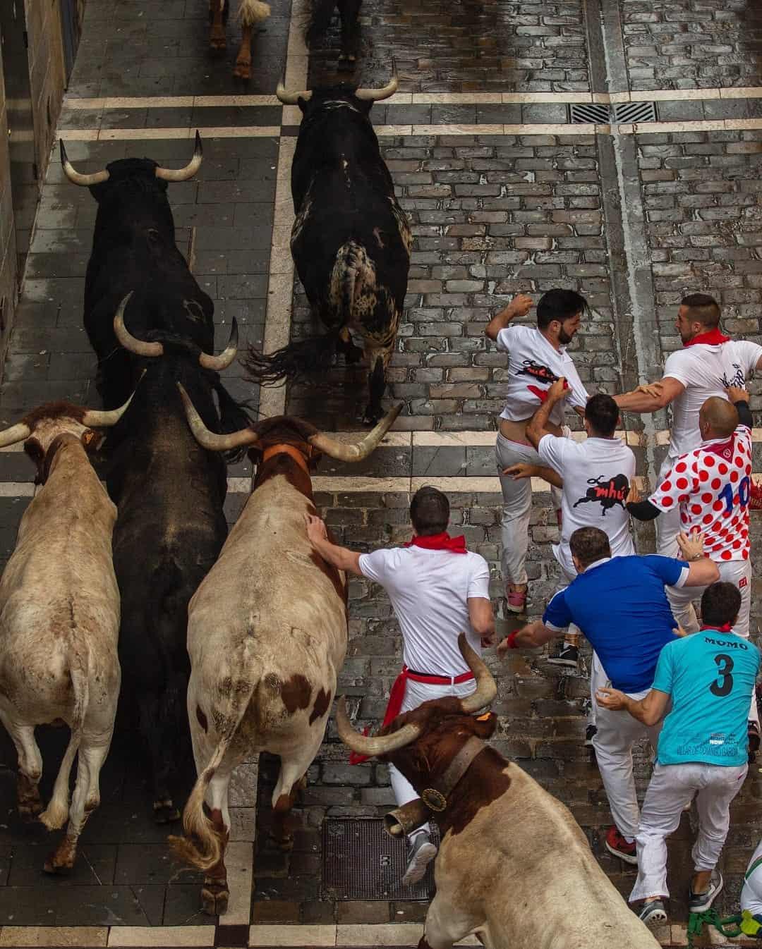 Spain Running of the Bulls festival 2018