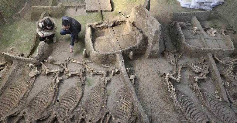 1,800-year-old tombs discovered in Hebei