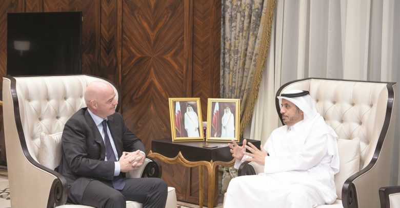 Prime Minister meets President of FIFA