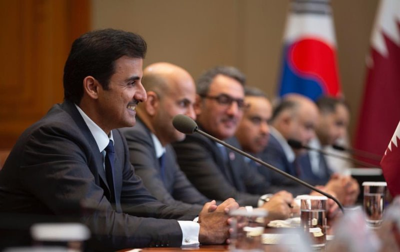 Amir, President of Korea discuss relations of friendship and cooperation