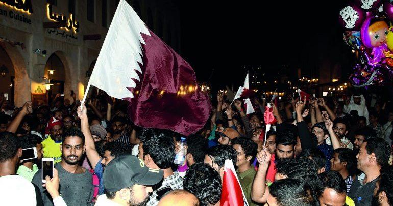 Scenes of jubilation colour Doha Corniche as citizens, residents celebrate Qatar's win