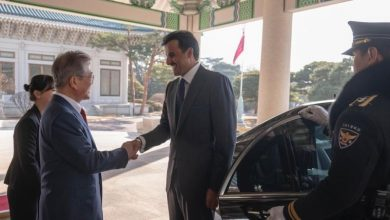 Photo of Amir, President of Korea discuss relations of friendship and cooperation