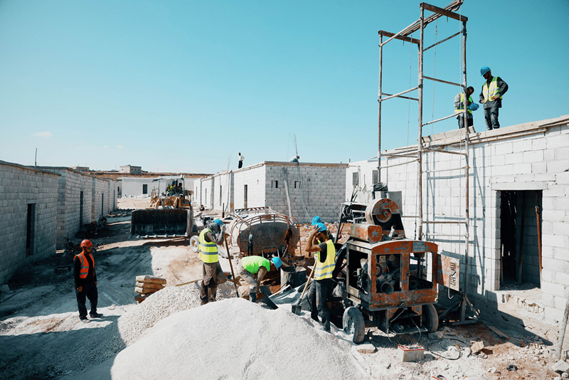 Qatar Charity builds a model village for 400 Syrian displaced families