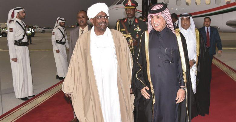 President of Sudan arrives in Doha