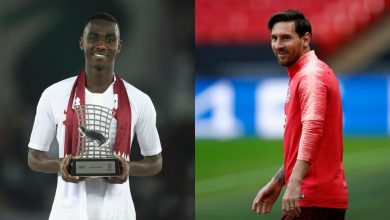 Messi surprises Qatar's Almoez Ali with a special gift