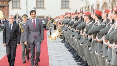 HH The Amir and Austrian President review the development of relations