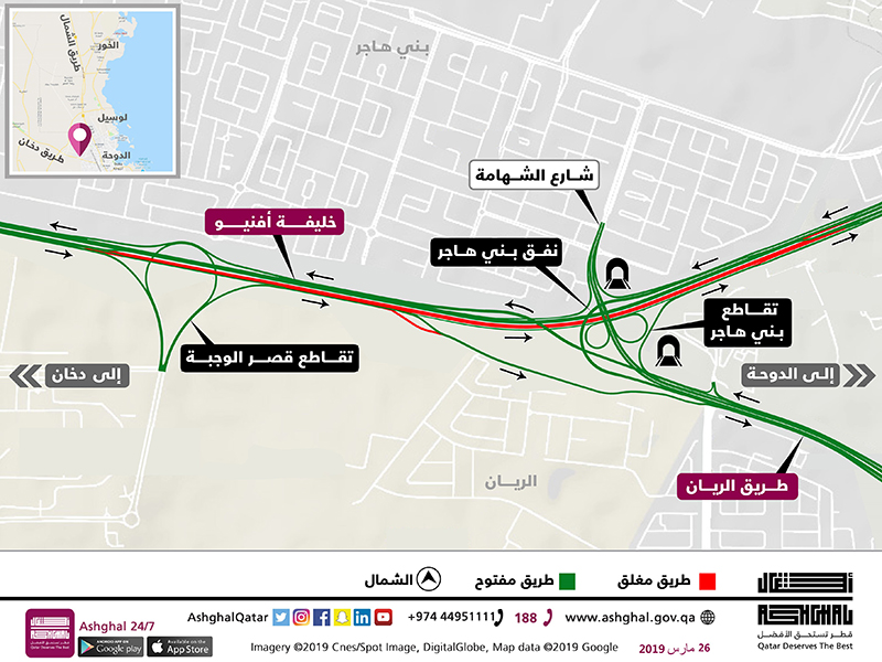 Temporary Diversion on Khalifa Avenue