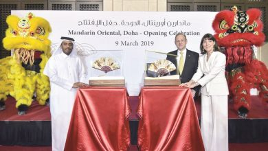 Mandarin Oriental, Doha opens with unveiling of signature fan