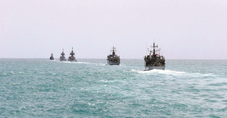 Amiri Naval Forces holds joint exercise with British Royal Navy Forces