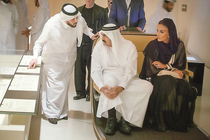 Father Amir, Sheikha Moza visit National Museum of Qatar