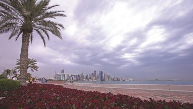Photo of The first video of rain in Doha this season