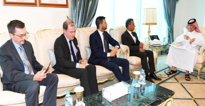 Al Muraikhi meets Italy, UK, France & US envoys