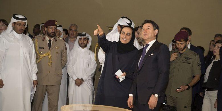 Italian premier visits National Museum of Qatar