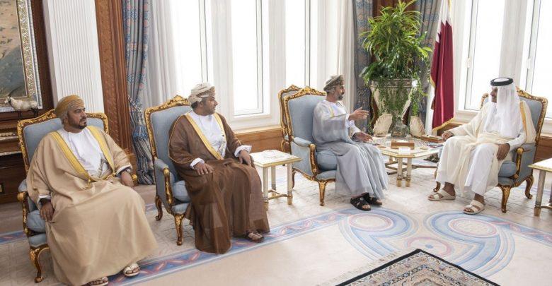 Amir Meets Oman's Consultative Council President