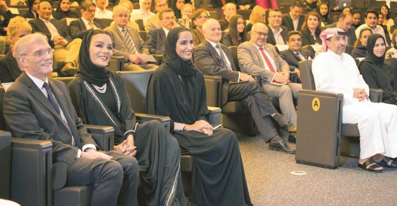 Sheikha Moza attends GU-Q event
