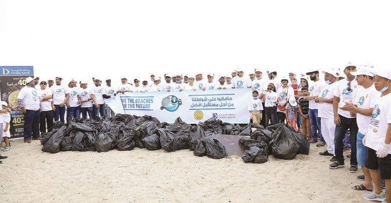 Doha Bank does its part to preserve the beaches