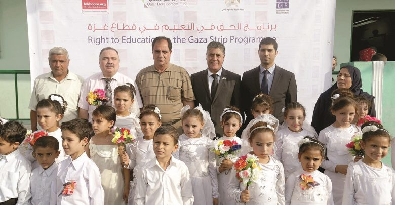 QFFD and EAA invested over $31m in education in Gaza