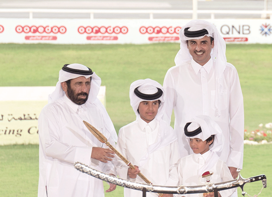 Amir honours winners of purebred Arabian Camel Festival on the Sword of H H the Amir