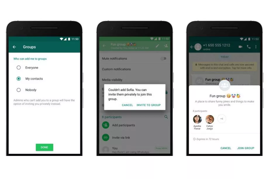 WhatsApp now lets you control who can add you to groups