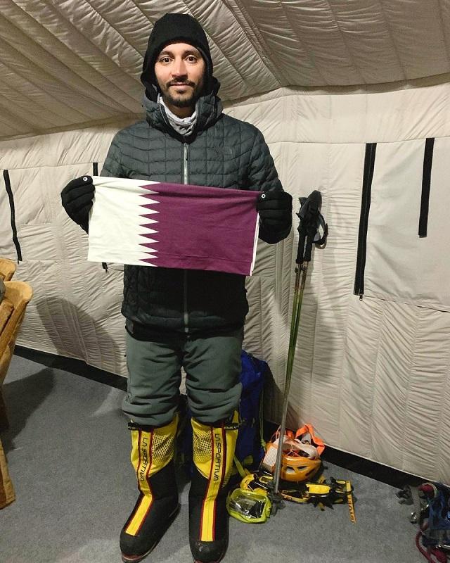 Qatari makes history as first Arab to reach Everest and Lhotse peaks