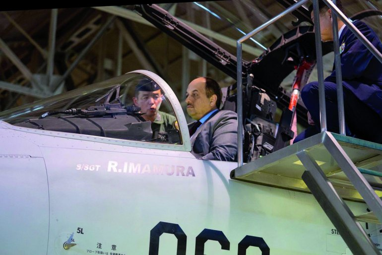 Al Attiyah visits Nyutabaru Air Base in Japan