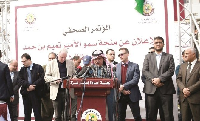 $180mn of Qatar grant to be used for humanitarian projects in Gaza