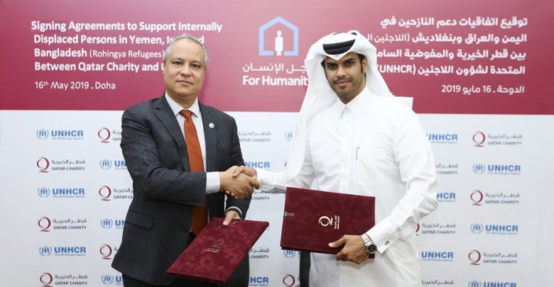 UNHCR, QC sign pacts to support displaced people in three nations