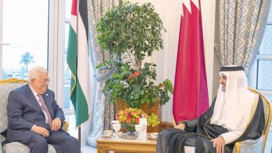 Photo of Amir and Palestine President discuss latest developments