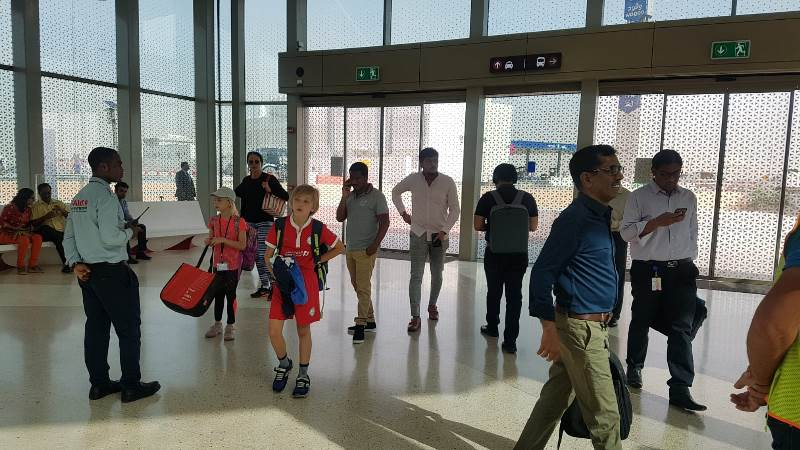 Excited residents take their first ride on Doha Metro