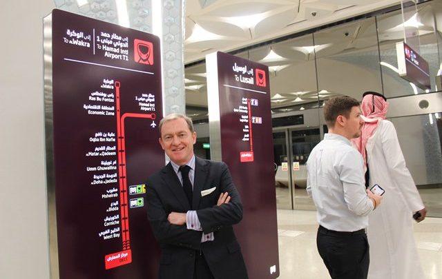 French ambassador rides Doha Metro