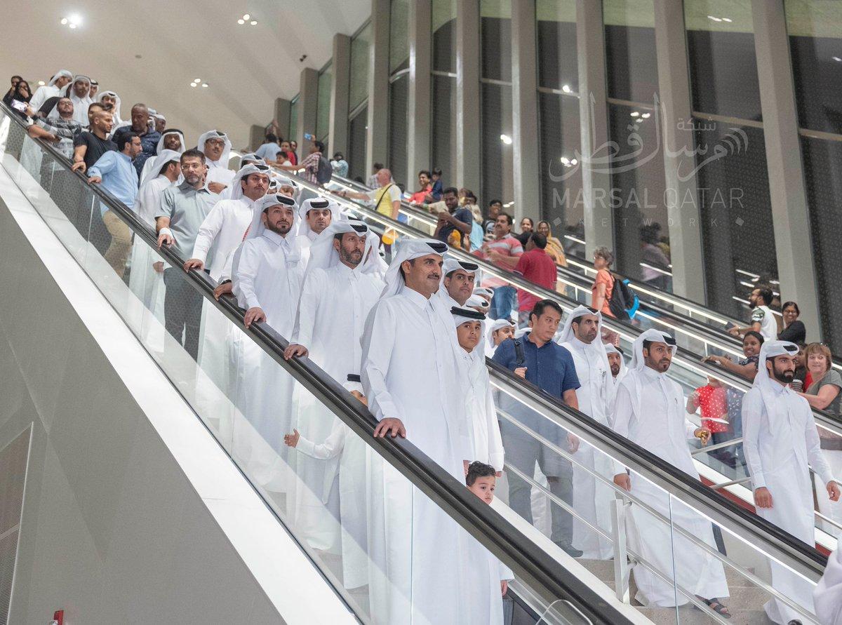 Amir takes Metro ride Al Janoub Stadium