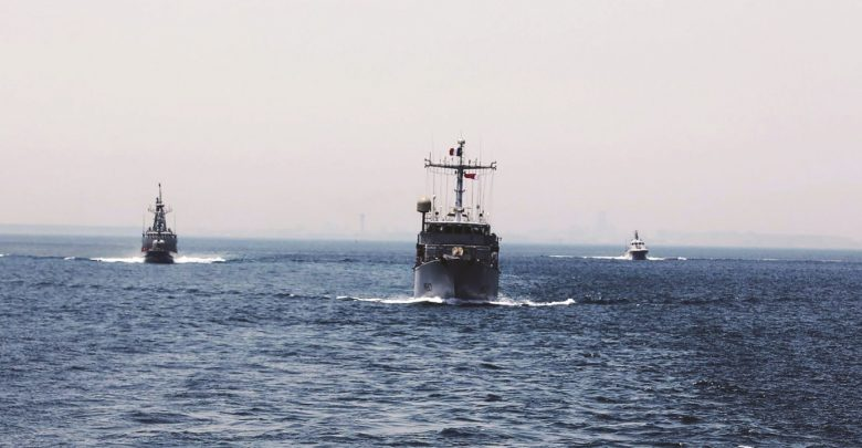 Qatari Amiri Naval Forces conduct joint exercise with French Navy