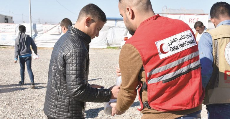 Overall aid provided by QRCS over past three years benefited 30 million in Iraq