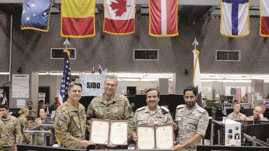 QAF and Al Udeid Airbase celebrate signature of Nato Standard Operating Procedures