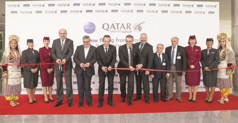 Qatar Airways inaugural flight to Izmir touches down at Adnan Menderes Airport