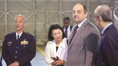Al Attiyah visits Nyutabaru Air Base in Japan