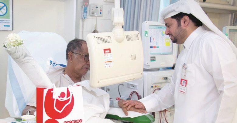 Ooredoo volunteers visit patients at kidney centre