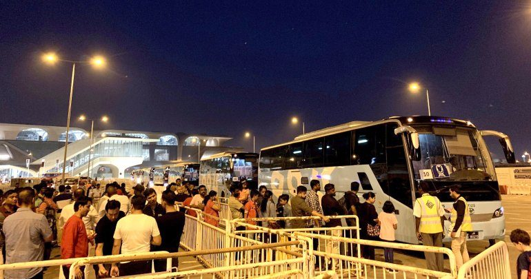 Mowasalat transported over 10,000 spectators