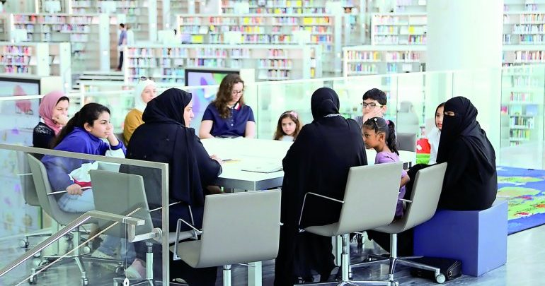 Visitors attend 'Islamic Stories' at QNL