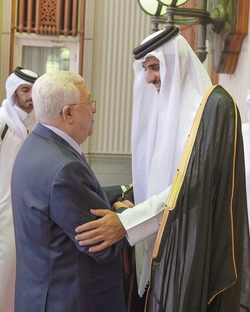 Amir and Palestine President discuss latest developments