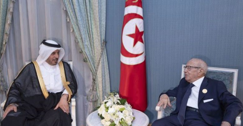 Tunisian president meets Qatar's Prime Minister