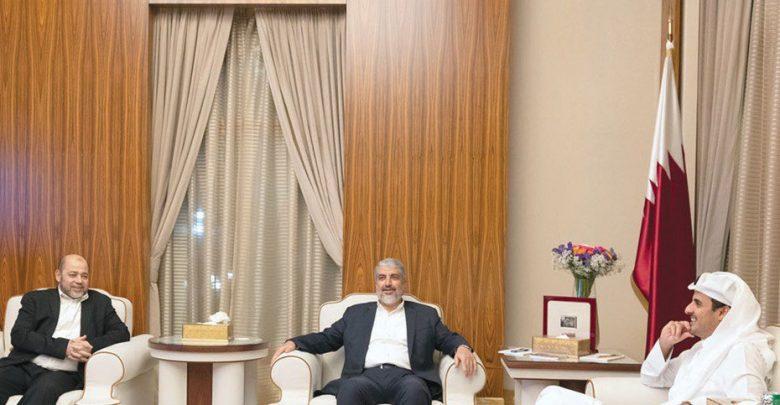 Amir receives Hamas delegation