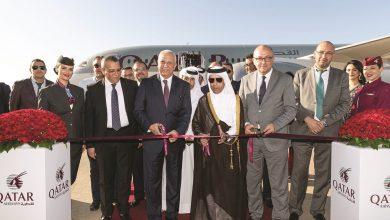 Qatar Airways's inaugural flight touches down in Rabat