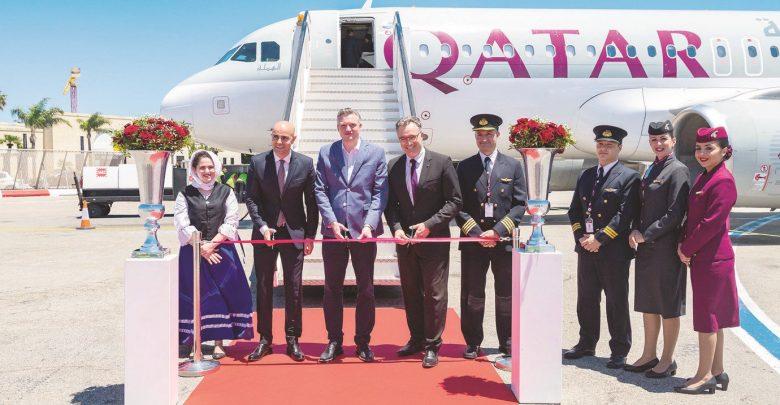 Qatar Airways inaugural flight touches down in Malta