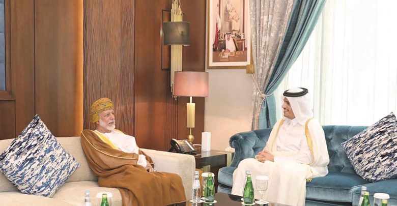 FM meets Oman's Minister Responsible for Foreign Affairs