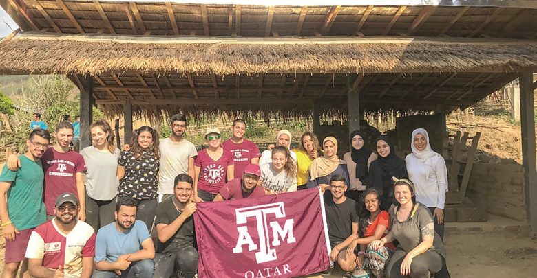 Texas A&M at Qatar students volunteer to build eco-bungalow