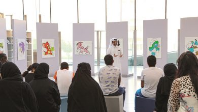 Qatari artist inspires youth at Qatar National Library